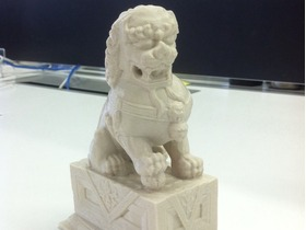 成双成对的中式石狮子
